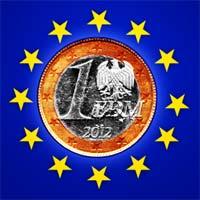 Erster Entwurf der EDM (Europäische D-Mark) der Vereinigten Staaten von Europa
